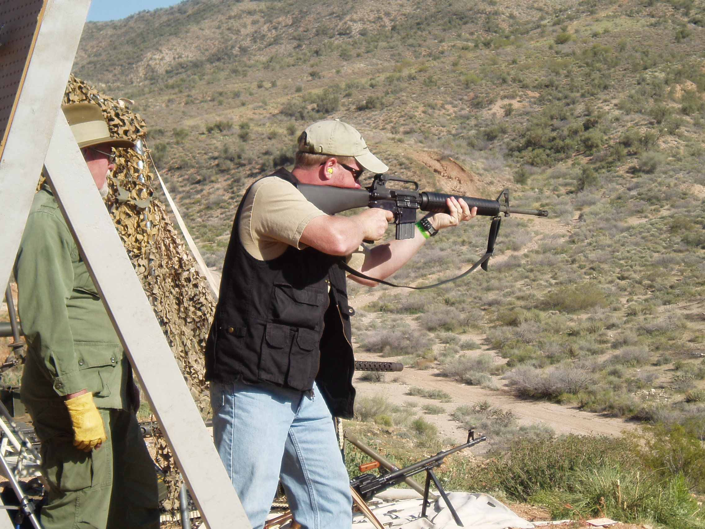 Shooting M16 at Big Sandy Shoot